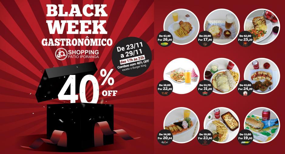 1ª Black Week Gastronômica Shopping Pátio Iporanga